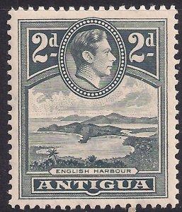 Antigua 1938 – 51 KGV1 2d Slate Grey Umm SG 101 ( M889 )
