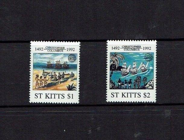 St Kitts 1992, 500th Anniversary Columbus Discovery of America, MNH set