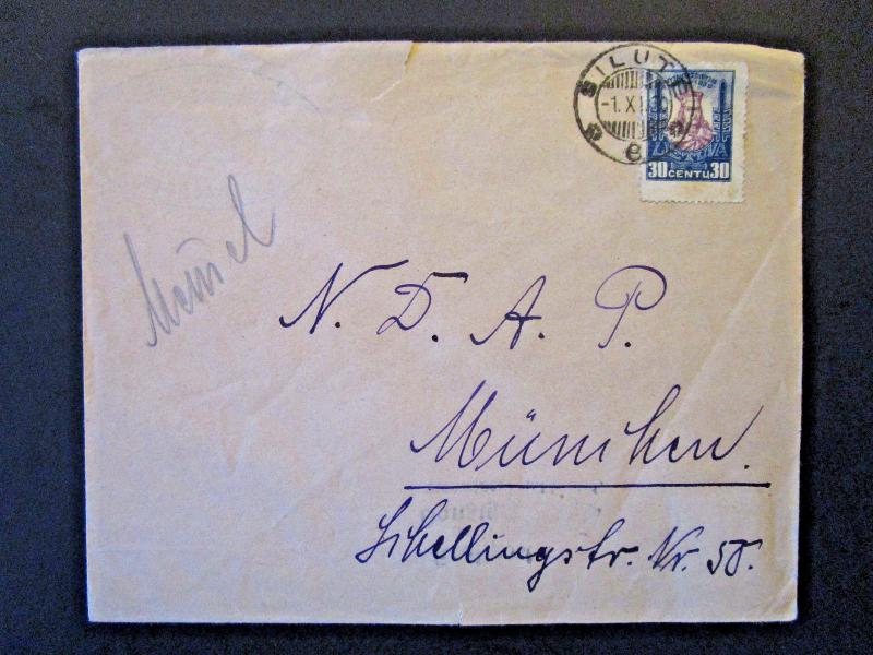 Lithuania 1930 Cover / Silute CDS / Single Franking - Z5413