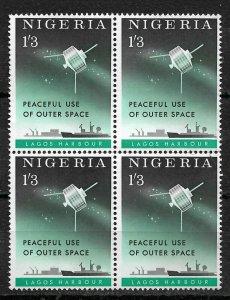 Nigeria 1963, Space Satellite Peaceful Use of Space, Block Sc # 144,VF MNH**