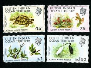 British Indian Ocean Territory Stamps # 39-42 VF OG H Catalog Value $22.75