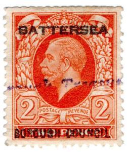 (I.B) George V Commercial Overprint : Battersea Borough Council