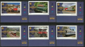 Isle of Man IOM 125th Anniversary Electric Railway 6v Set unmounted mint MNH