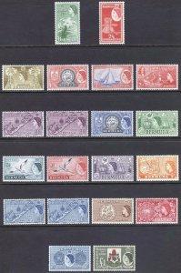 Bermuda 1953 1/2d-£1 Pictorial+Vars SG 135-150 Sc 143-162 UMM/VLMM Cat£118($153)