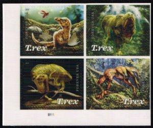 US #5413a Tyrannosaurus Rex P# Block of 4; MNH (5Stars)