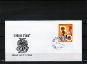 Guinea 1991 Rotary/Lions Int.Child Bird FDC Imperf. Mi#1347B