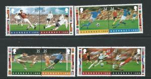 GUERNSEY SG696/703 1996 EUROPEAN FOOTBALL CHAMPIONSHIP MNH
