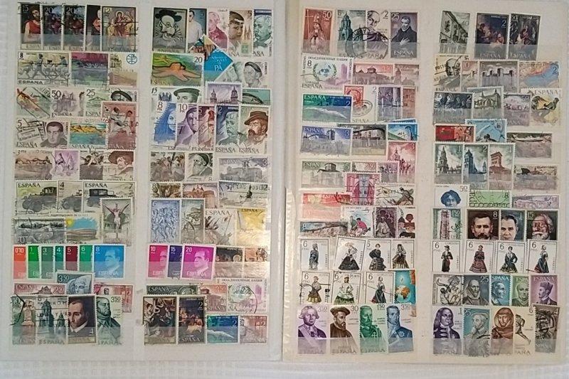Lot Spain 151 stamps used/unused