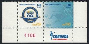Costa Rica Centenary of FIFA Football Association Bottom pair SG#1772-1773
