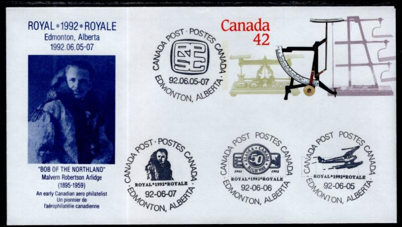 Canada Unitrade U130 Postal Envelope Multi Event Cancel VF