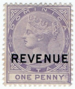(I.B) Dominica Revenue : Duty Stamp 1d