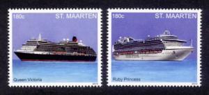 St. Martin Sc# 41-2 MNH Cruise Ships (Part 2)