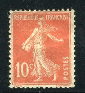 FRANCE; 1920s early Sower type issue fine Mint hinged 10c. value, shade