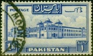 Pakistan 1954 1a Ultramarine SG38a P.13.5 Fine Used (2)
