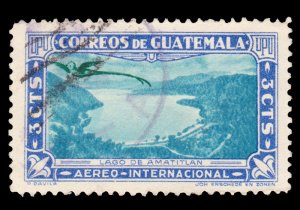 GUATEMALA AIRMAIL STAMP 1939 SCOTT # C113. USED.