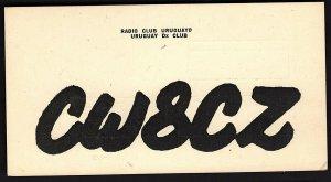 QSL QSO RADIO CARD CW8CZ/Uruguay Club/1970, (Q1874)