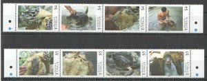 NW0064 2013 KINGDOM OF TONGA MARINE LIFE TURTLES FROM NATIONAL CENTER 2SET MNH