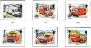 Jersey Sc 1236-41 2006 Postal Vehicles stamp set used