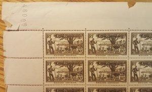 Ivory Coast #133* NH  Part sheet of 42  CV $50.40