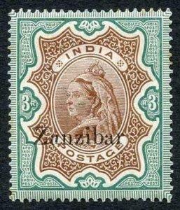 Zanzibar SG20 3r Brown and Green (a few light tone spots) M/M