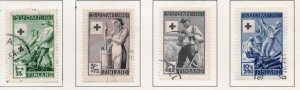 Finland Sc B74-77 1946 Red Cross charity stamp set used