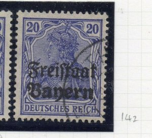 Bayern 1919 Early Issue Fine Used 20pf. Optd NW-10744