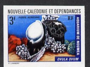 New Caledonia 1974 Marine Fauna 3f (Ovula Shell) imperf p...