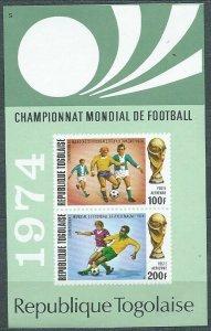 1974 Togo 1021-1022/B81b 1974 FIFA World Cup in Munich 5,50 €
