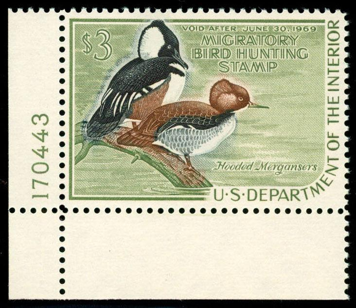 momen: US Stamps #RW35 Duck Mint OG NH XF