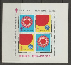 Japan Cinderella seal TB Charity revenue stamp 5-03-24 mint