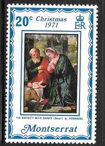 Montserrat 266: 20c Nativity with Saints, MH, F-VF