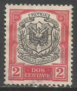 DOMINICAN REPUBLIC 180 VFU ARMS N618-2