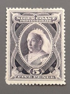 Niger Coast Protectorate 47 F-VF mint small thins. Scott $ 14.00