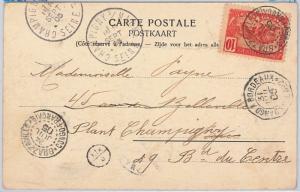Belgian Congo  Congo Belge -  POSTAL HISTORY - POSTCARD to FRANCE 1905