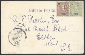 MADEIRA FUNCHAL 1902 postcard to UK........................................52973