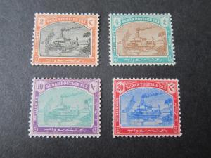 Sudan 1901 Sc J5-J8 set MH