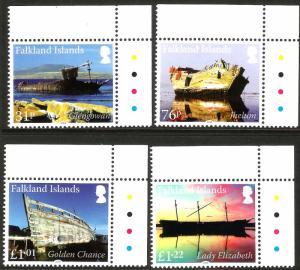 Falkland Islands 2018 MNH Wrecks Shipwrecks Pt II 4v Set Ships Boats Stamps