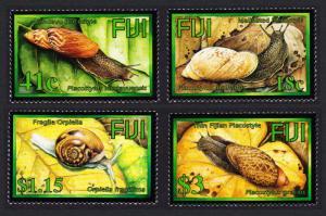 Fiji Endemic Land Snails 4v SG#1218-1221 CV£20+