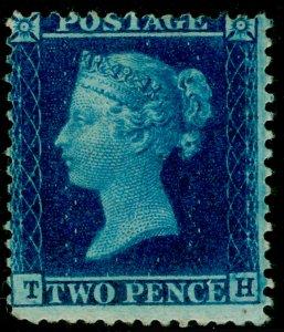 SG34, 2d blue plate 5, LC14, M MINT. Cat £2850. TH