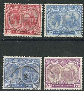 Saint Kitts-Nevis 4 Different Used VF 1921-29 SCV $14.75
