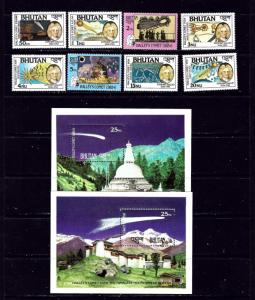 Bhutan 564-71 MNH 1986 Halleys Comet