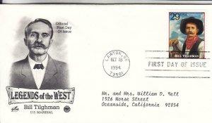 1994, Legends of the West-Bill Tilghman, Artcraft/PCS, FDC (E9006)