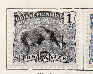French Guiana 1904 Early Issue Fine Mint Hinged 1c. 135922