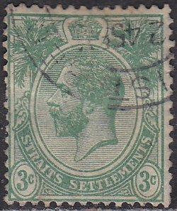 Straights Settlement 182 Hinged Used 1921 King George V