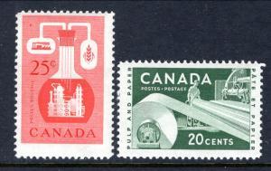 Canada 362-363 Unused Hinged BIN