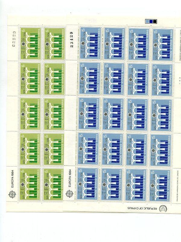 Cyprus 1984  Europa sheets Mint VF NH - Lakeshore Philatelics
