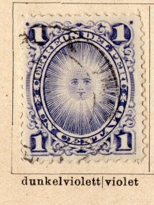Peru 1884-86 Early Issue Fine Used 1c. NW-11694