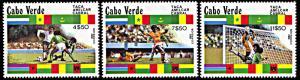 Cape Verde 443-445, MNH, Amilcar Cabral Football Championship