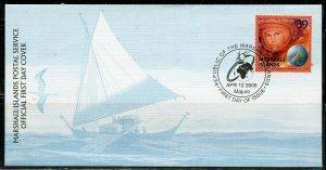 MARSHALL ISLANDS 2006 YURI GAGARIN FIRST DAY COVER
