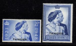 Great Britain Tangier Sc 525-6 1948 G VI Silver Wedding stamp set mint